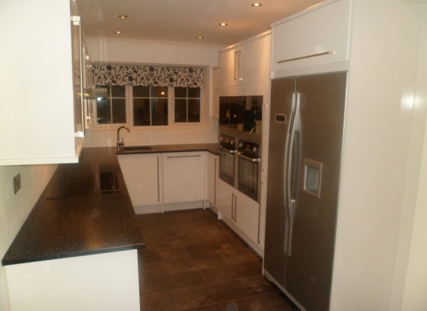 garage conversion into a kitchen started 3rd january 2013